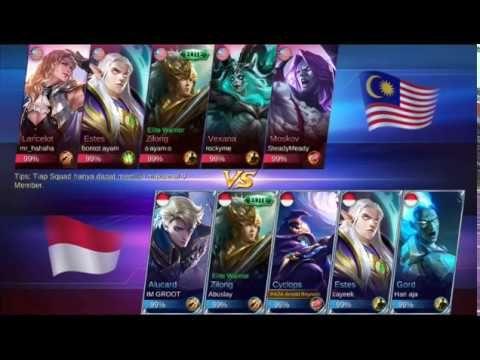 Indonesia Vs Malaysia Mobile Legend Mobile Legends Sick Boy Legend