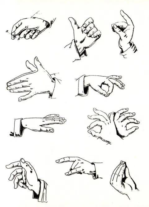 The Fine Art Of Italian Hand Gestures A Vintage Visual Dictionary By Bruno Munari Italian Hand Gestures Bruno Munari Communication Illustration