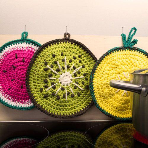 3 in 1: Häkelanleitung für Früchte-Topflappen Tenri | Crochet ...