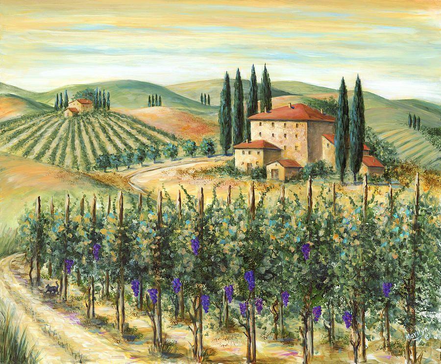 31be061bda2 Tuscan Vineyard And Villa by Marilyn Dunlap - Tuscan Vineyard And ...