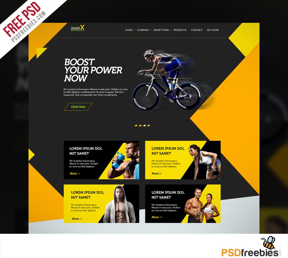 Website Templates Sports Shop Website Multipurpose Free Psd Template  Sports Sites