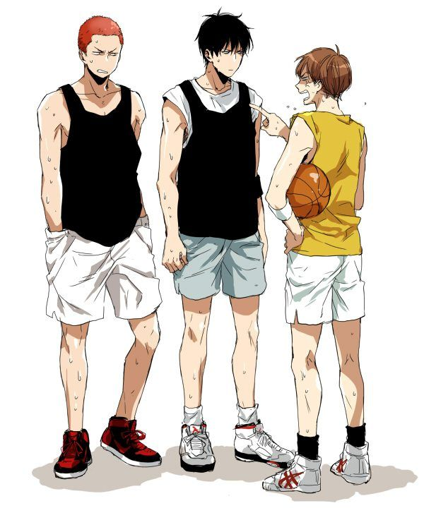 Slam Dunk Rukawa And Sakuragi: Tags: Anime, Fanart, Slam Dunk, Hanamichi Sakuragi, Rukawa