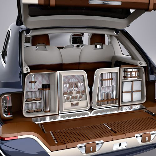 Bentley Says Its Suv Will Create A New Segment: The New BENTLEY SUV V12 With A Dining Set For Camping