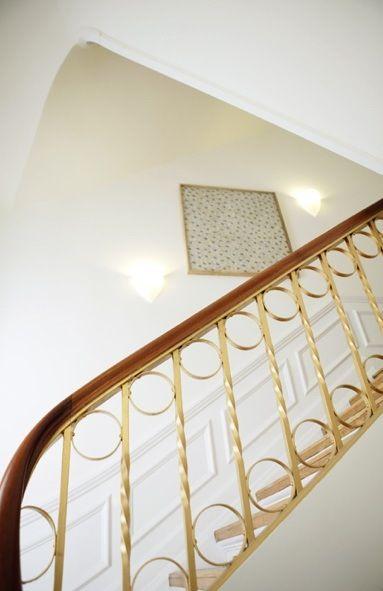 Decorative Brass Railing Staircase Design Stairs Design