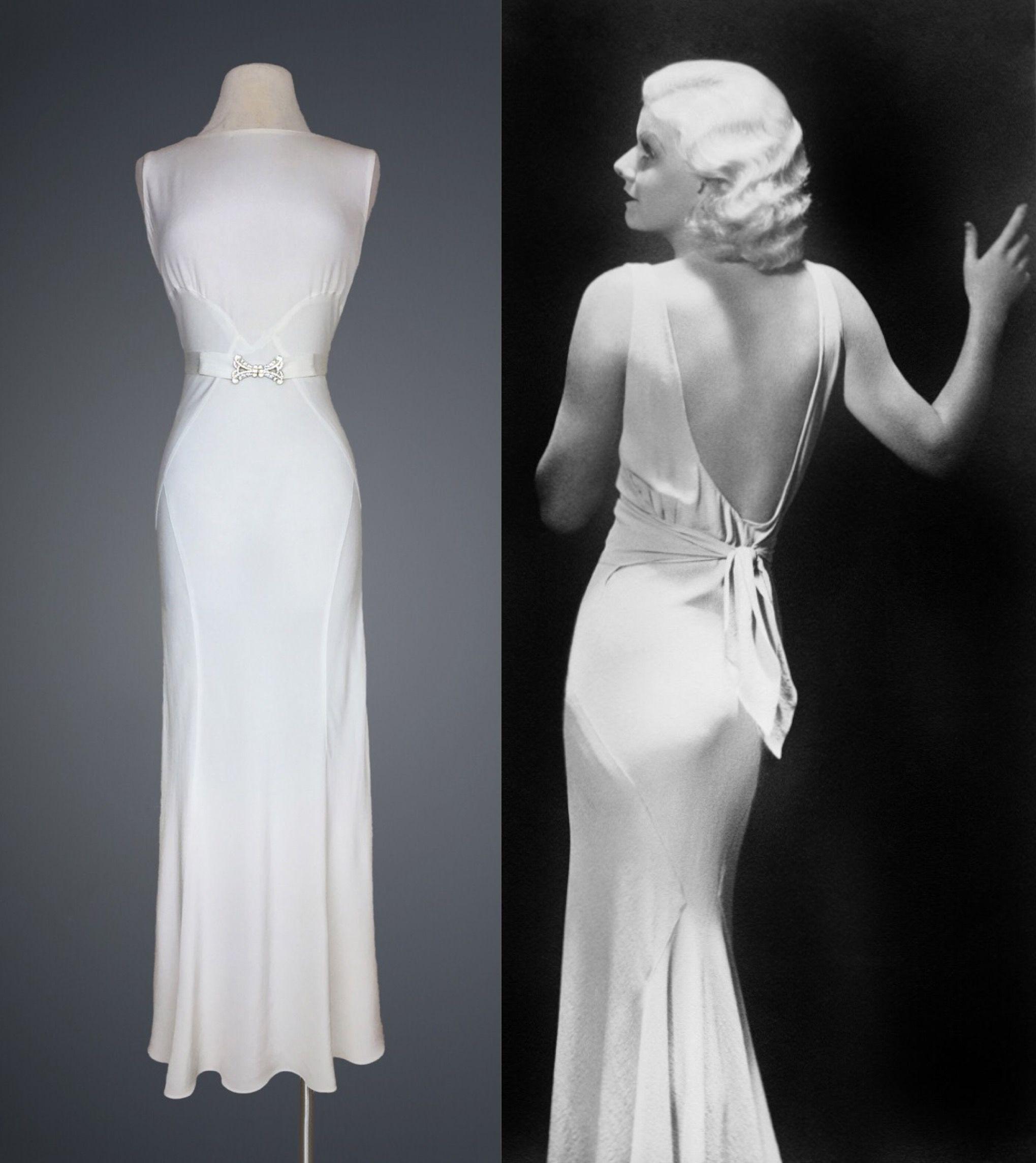 Vintage 1930s rayon-crêpe bias cut gown | Vintage Fashion ...