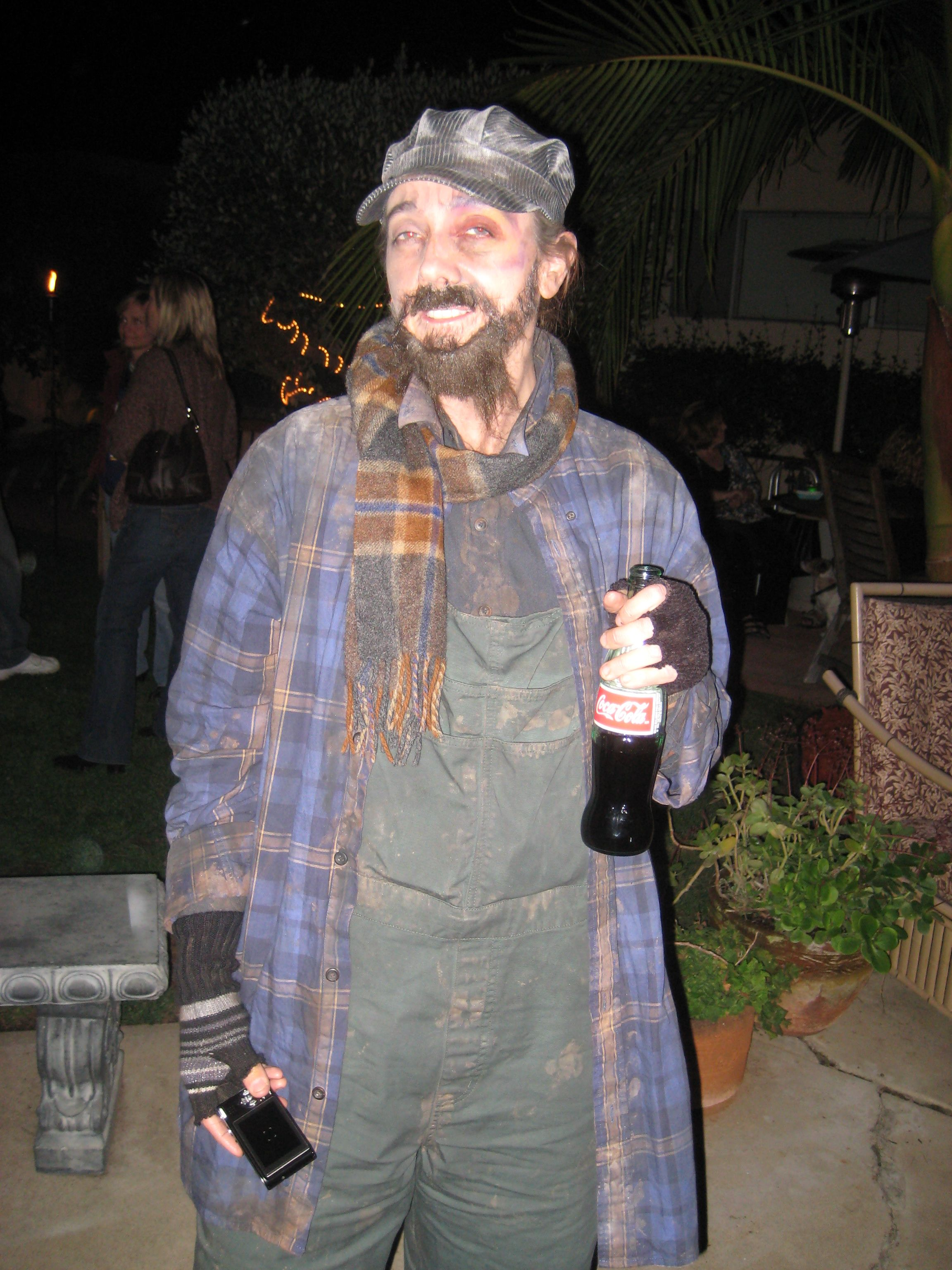Back In The Day The Hobo Costume Was The Way To Go I Purchased Most Of The Stuff At The Thrift Store And Faux Finishe Hobo Costume Costume Craze Hobo Dress