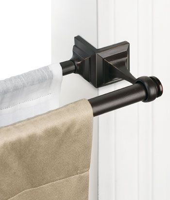 Double Spring Tension Rod Window, How To Put Up A Spring Tension Curtain Rod
