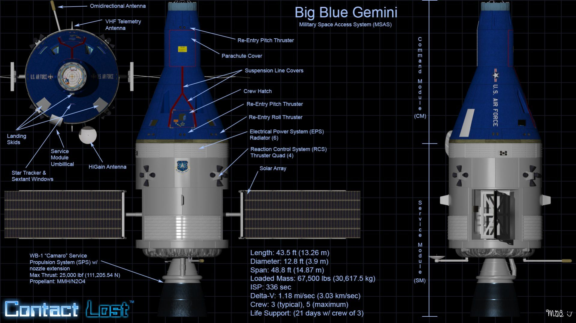 Blue Gemini | CGI: Contact Lost Spacecraft | Pinterest ...