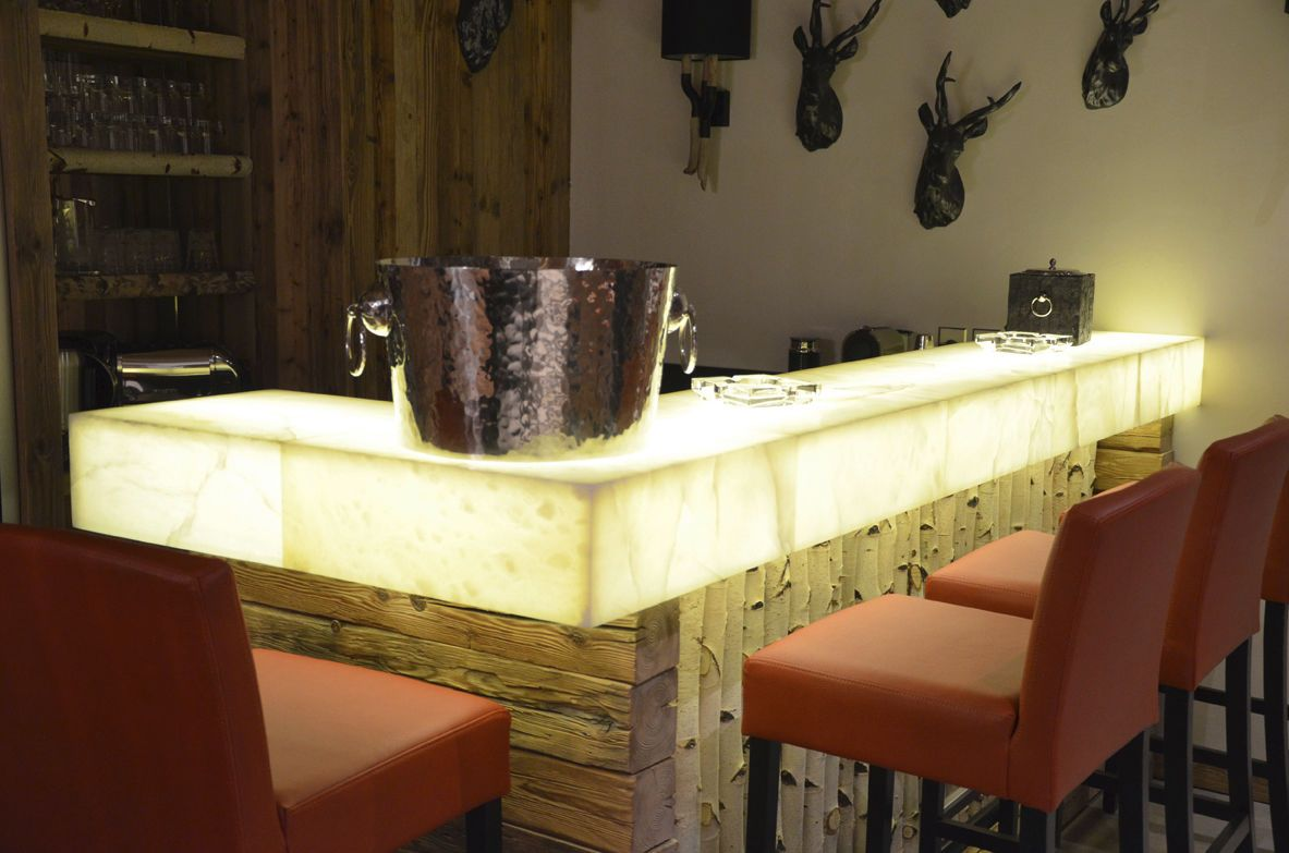 Marble And Granite Bars Bar Counter Stone Backlit