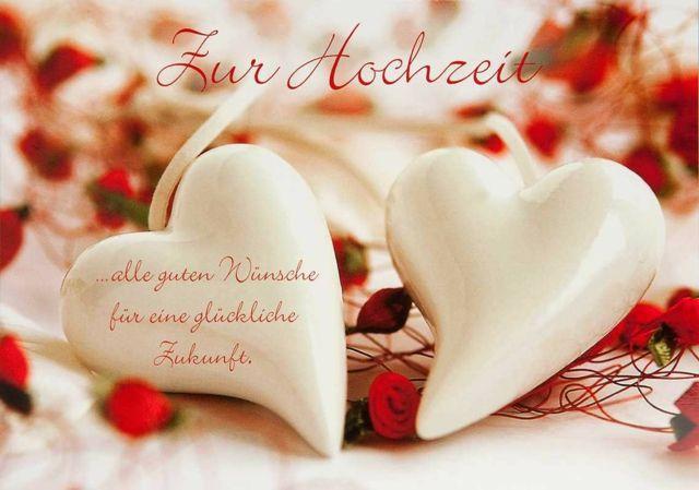 Zwei Weissen Herzen Mit Tischdecke Rosenbluten Wunsche Zur Hochzeit Hochzeitswunsche Gluckwunsche Hochzeit