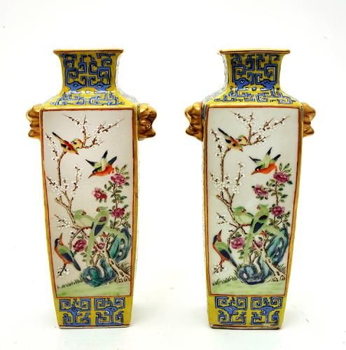 Pair Of Vases Jingdezhen Porcelain C 1800 Chinese