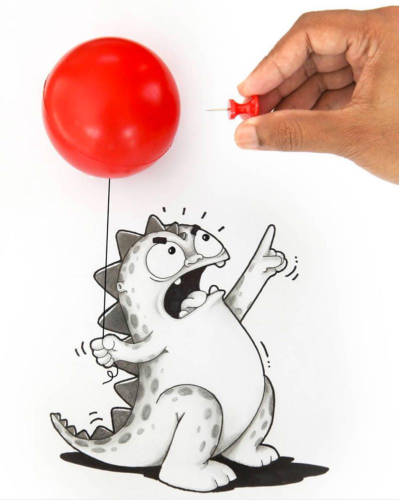 Artists Manik And Ratan Bring Pet Dragon To Life On Paper Cute Drawings Doodle Art Pet Dragon
