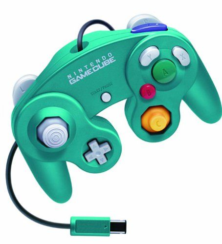 Amazoncom Emerald Blue Nintendo Gamecube Controller Video Games