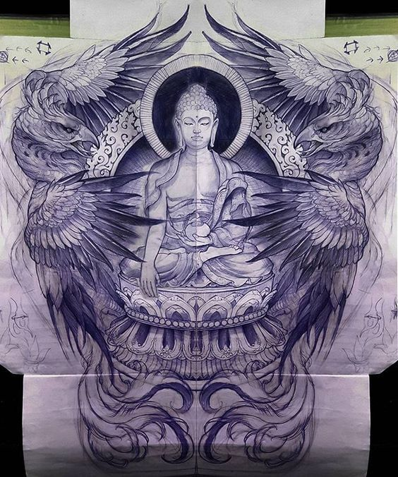 Back tattoo concept, substitute milarepa (มีรูปภาพ) ภาพ