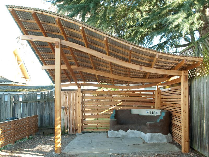 Standing Seam Metal Roof Over Pergola Google Search