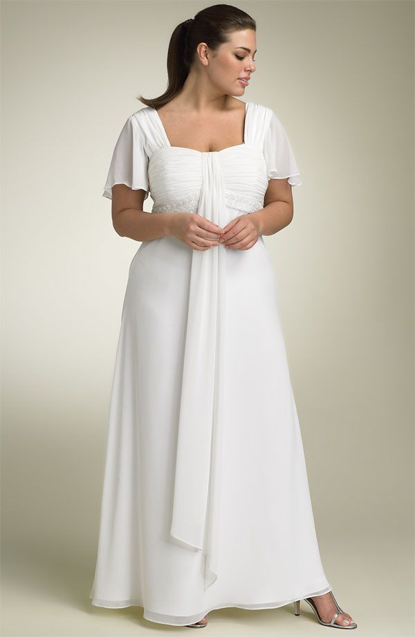 New Plus Size Wedding Dresses with Flutter Sleeves
