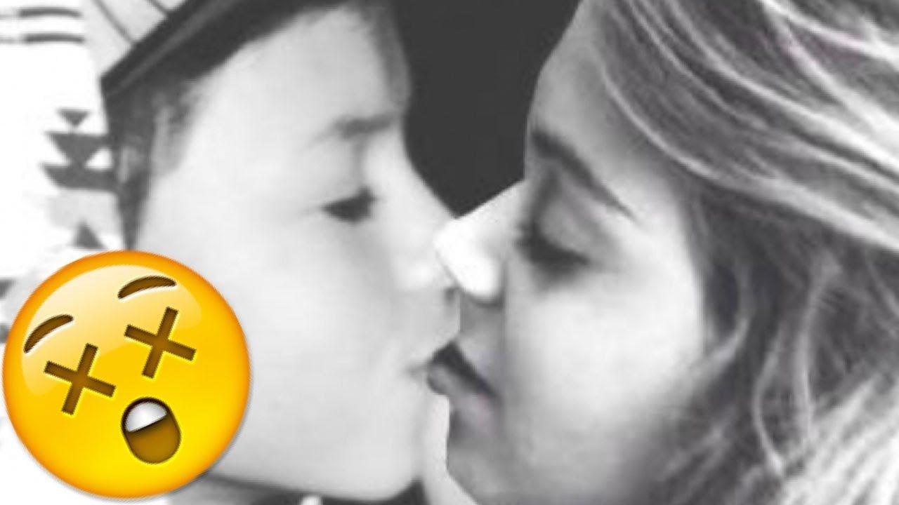 Jacob Sartorius Kissing Baby Ariel ON THE LIPS