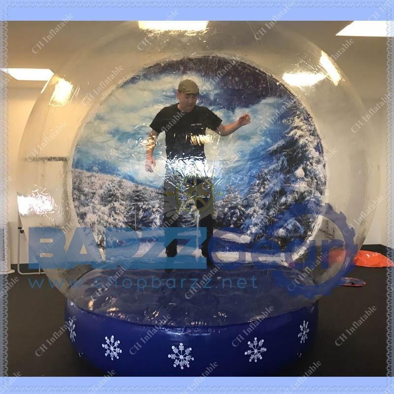 Inflatable Lifesize Snow Globe Winter Snowflake Design 10ft