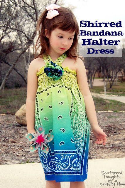 Pensamientos dispersos de una mamá Crafty: Vestido Bandana Shirred
