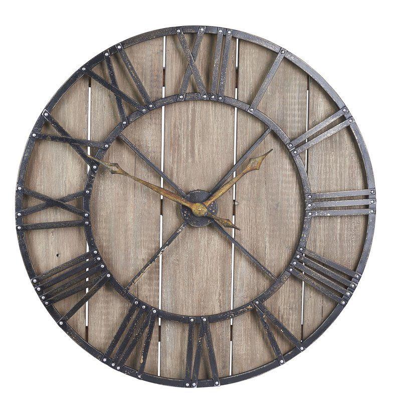 oversized eglinton 36 roman numerals barnwood wall clock on wall clocks id=32483
