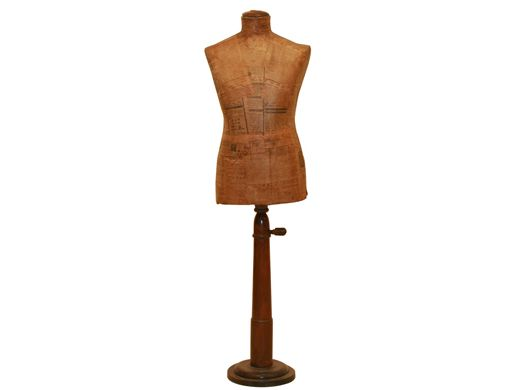 Vintage Male Tailoring Form-could be dressed with a suit coat or left as is with only a necktie.