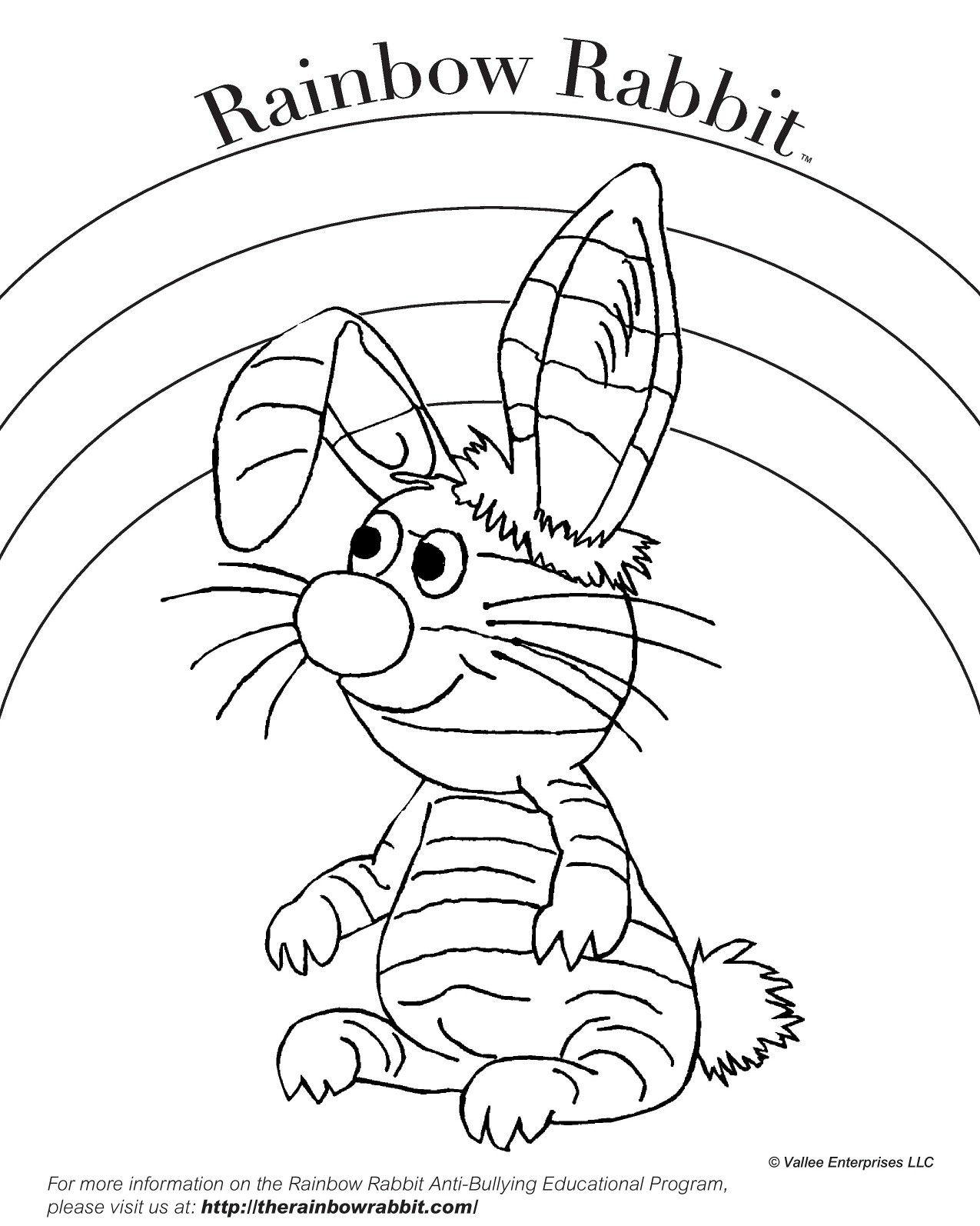 Happy Friday! You can download Rainbow Rabbit coloring sheets on out ...