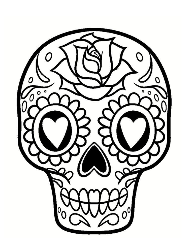 coloriage t te de mort mexicaine 20 dessins imprimer halloween pinterest t te de mort. Black Bedroom Furniture Sets. Home Design Ideas