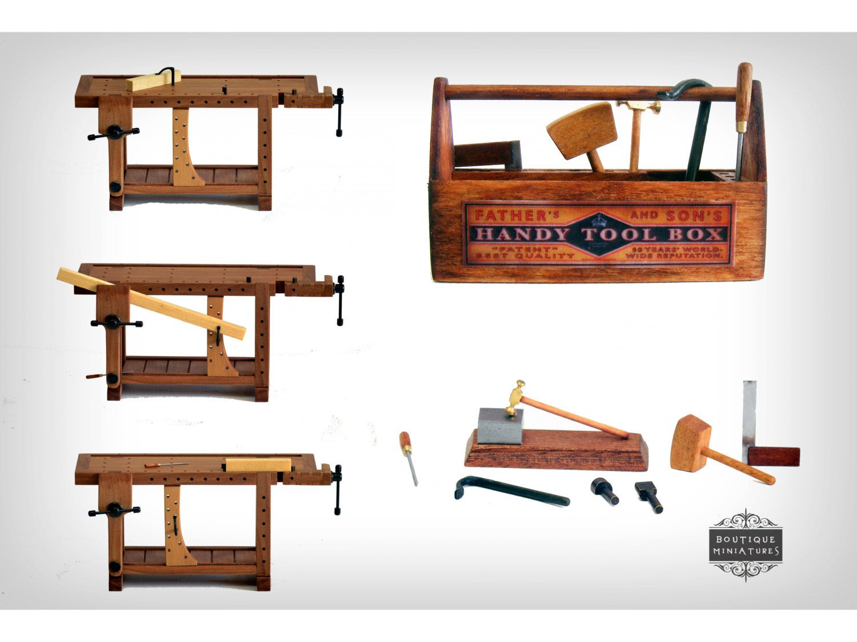 miniature dollhouse furniture woodworking. Miniature Roubo Bench, Scandinavian Workbench, Carpenter Table, Dollhouse, Furniture, Tool, Wise, Scale 1/12, Atelier, Workplace, Artisan Dollhouse Furniture Woodworking H