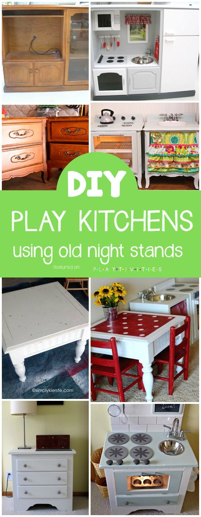 Drab to fab play kitchen table repurposing plays and craft
