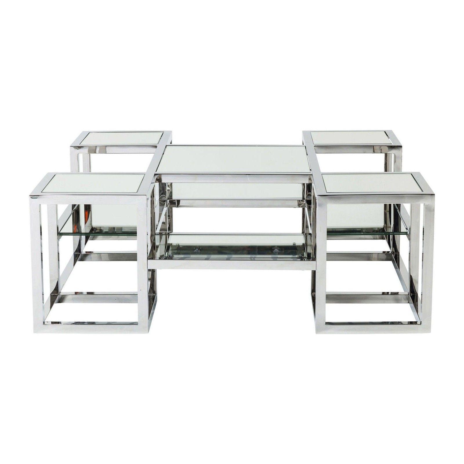 Table Basse Contemporaine Argent Steps Kare Design