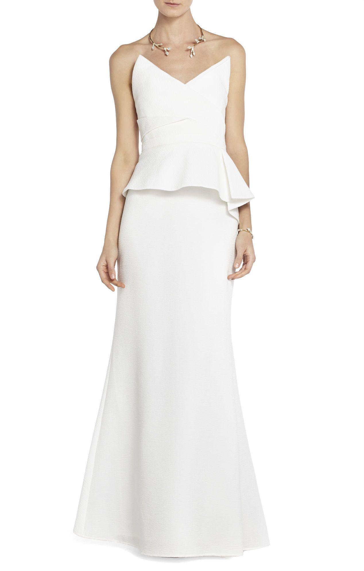 BCBGMAXAZRIA Gracie Strapless Peplum Gown   BCBG.com   Dress ...