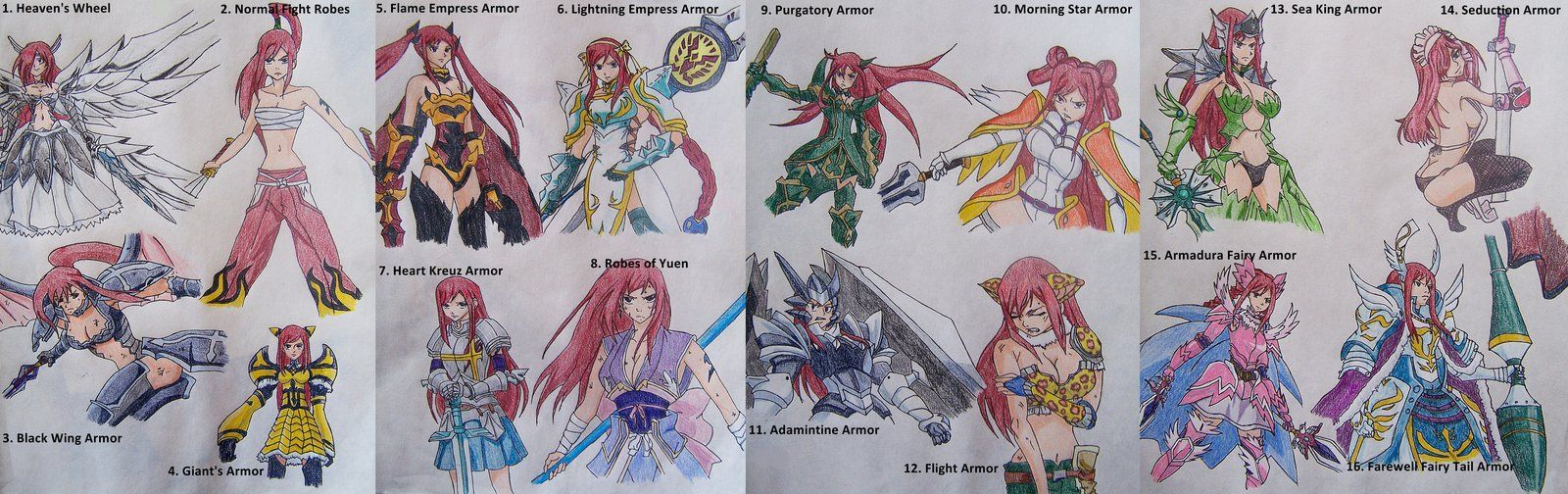 Erza Scarlet Armor List | Erza Scarlet Armor List by Libra-Creates