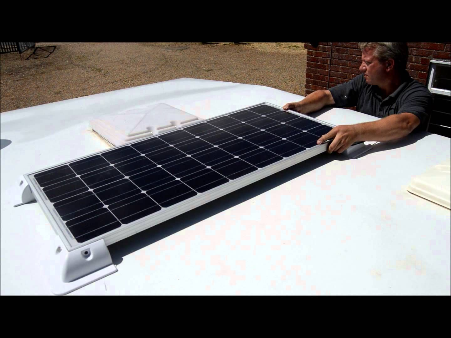 How To Fit An 80w Solar Panel To A Caravan Roof Using Silicon Adhesive Solar Panels Solar Solar Panel Technology