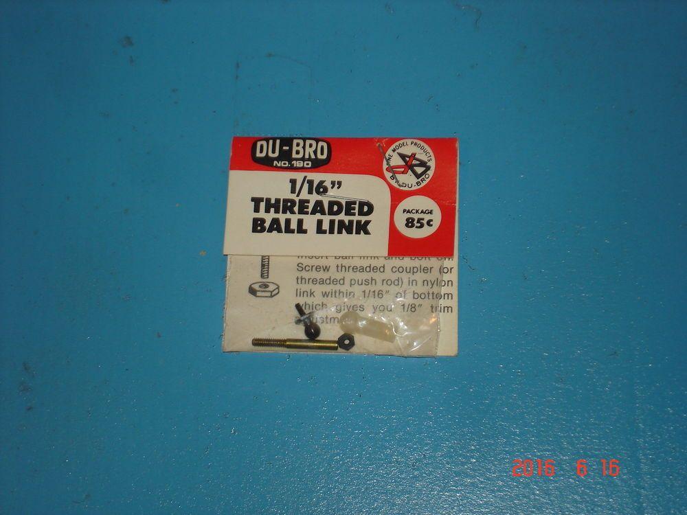 DU-BRO Ball Link Threaded 1//16 DUB190