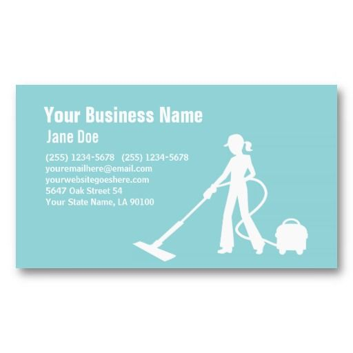 Cleaning service business card 2 business cards for Business cards for cleaning services