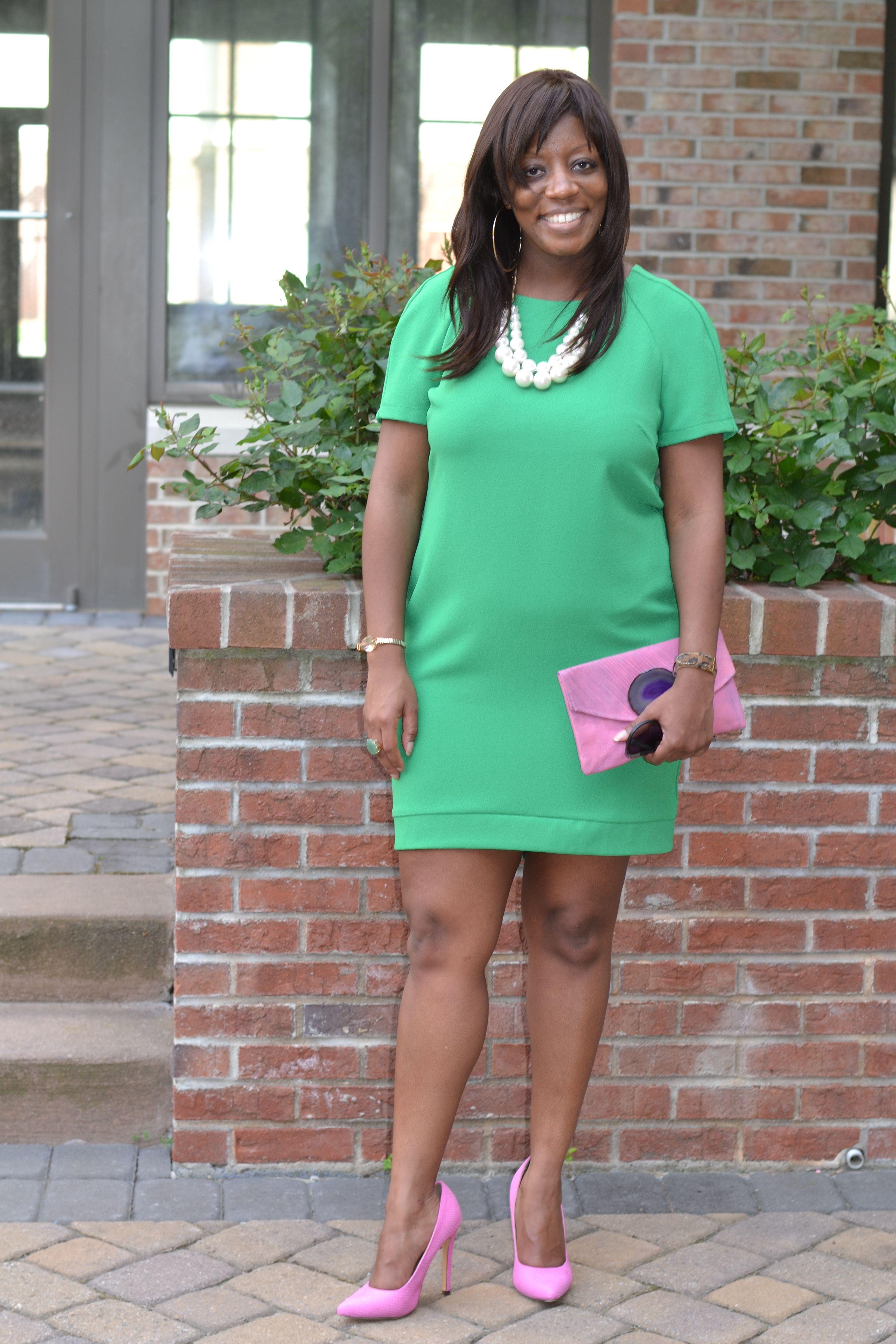 Kenya L Fashion Blog: Topshop Green Shift Dress   Kenya L Fashion ...