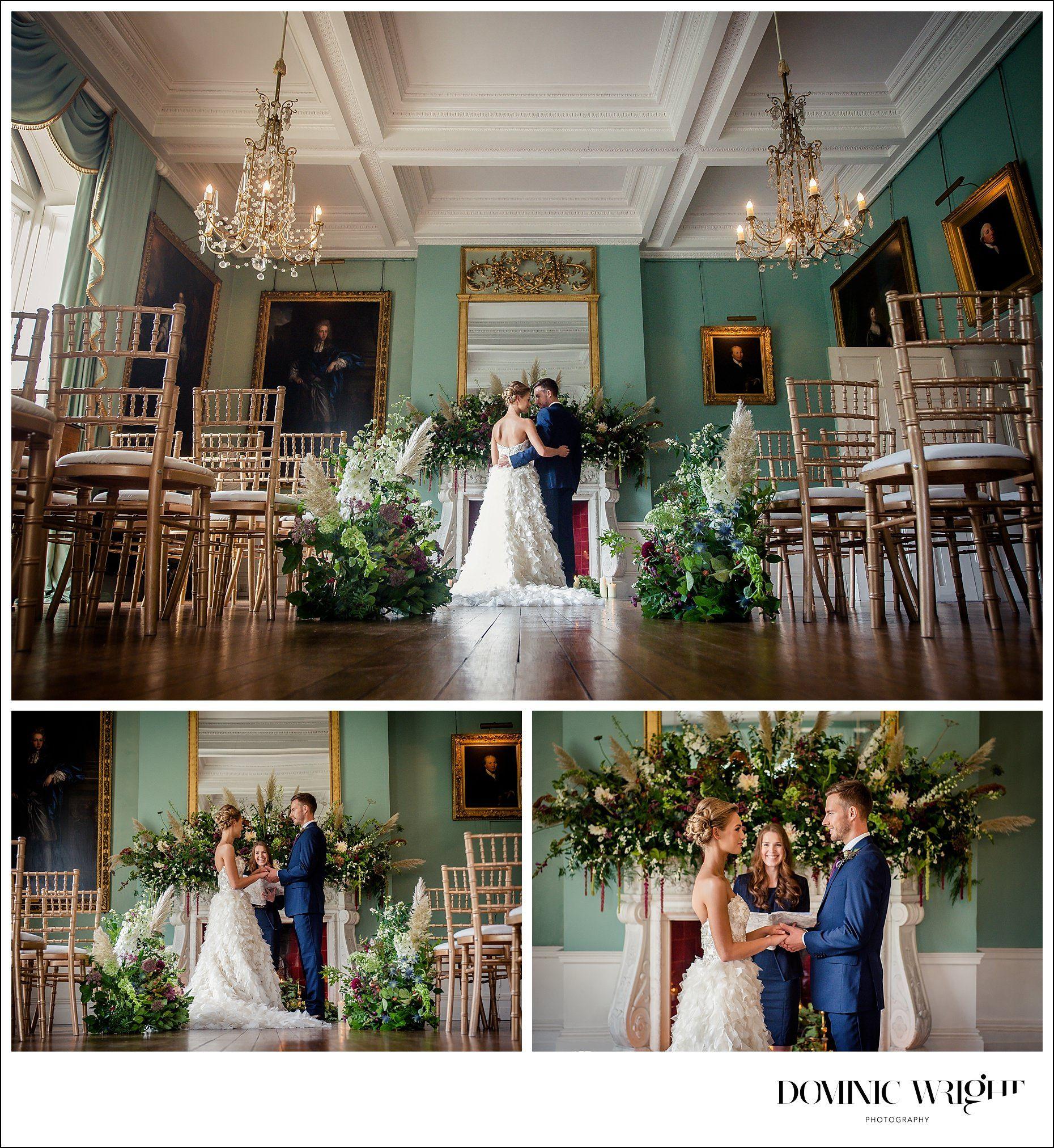 wedding reception venues north yorkshire%0A Yorkshire stately home  u     Birdsall House wild elegance bridal shoot