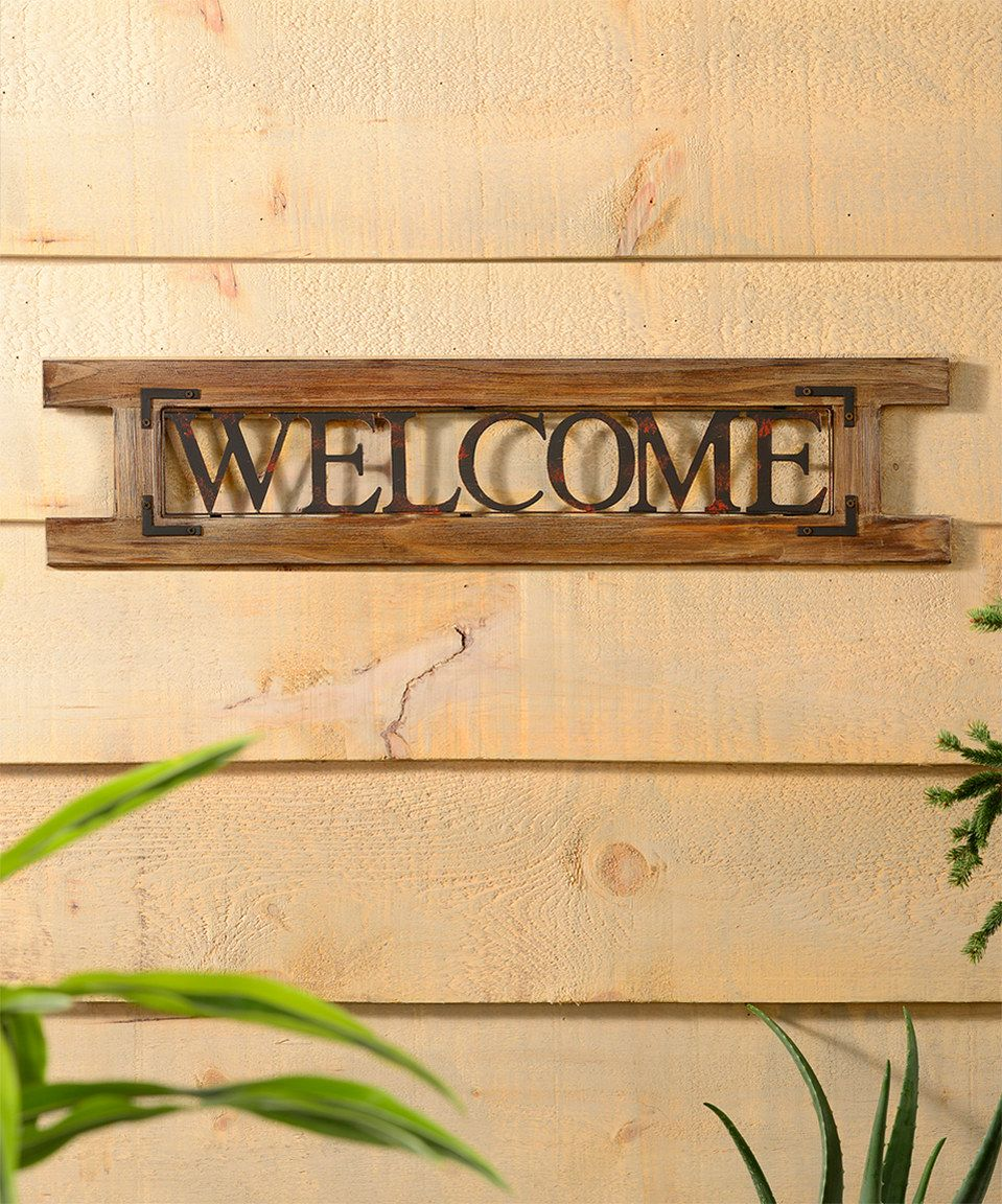 Welcome\' Wall Sign by Giftcraft #zulily #zulilyfinds | Garden ...