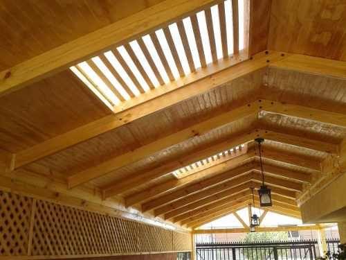 Cobertizo de madera buscar con google ideas para el for Ideas de tejados de madera
