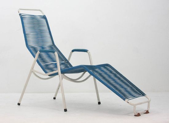 Excellent Reclining Lounge Chair From Car Katwijk 1950S Garden Dailytribune Chair Design For Home Dailytribuneorg