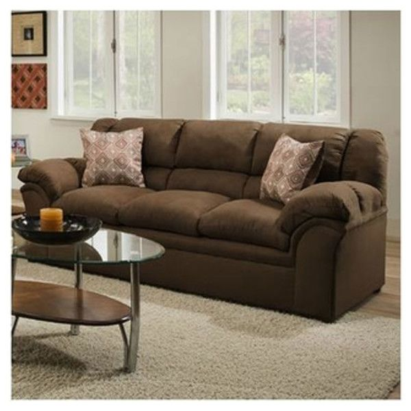 Best Simmons 1720S Sofa Venture Chocolate Hope Home 400 x 300