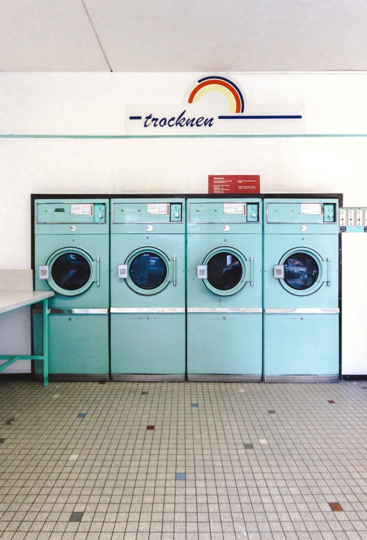 TrocknenA very retro laundromat (Wascherei) near our