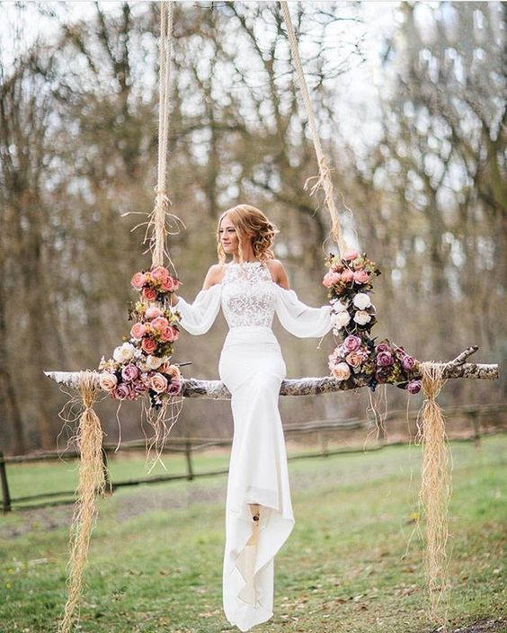 Photo of Swing becomes necessary when planning for garden, back yard and any outdoor wedding …