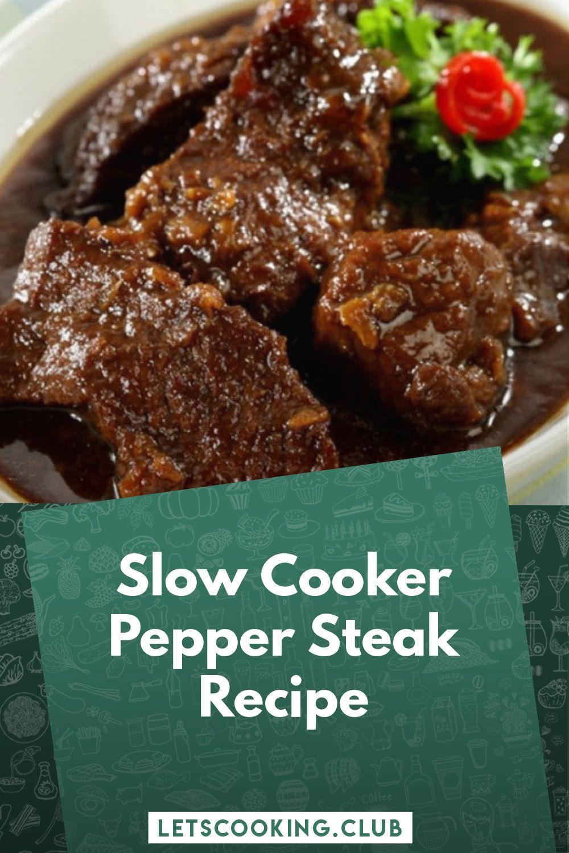 Photo of Slow Cooker Pepper Steak Recipe