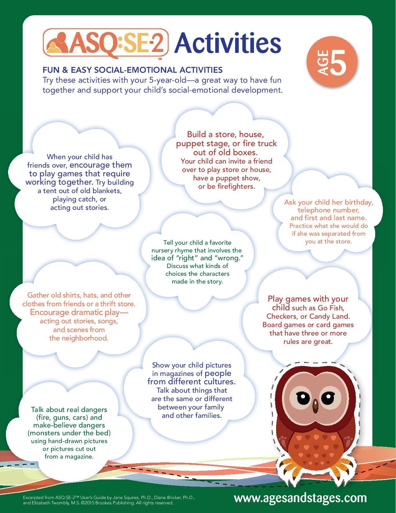 Age 5 socialemotional activities social emotional