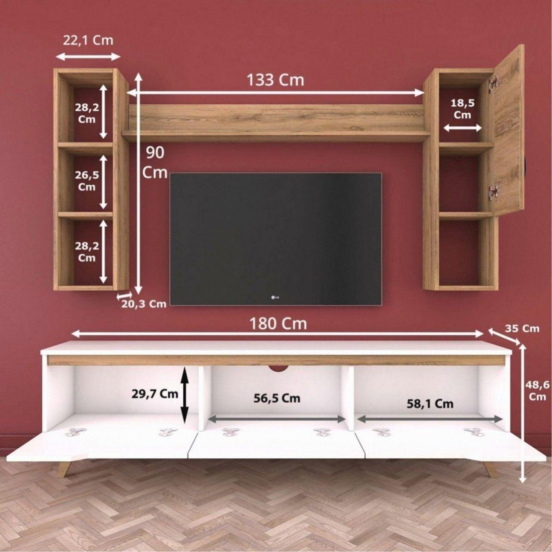 rani d1 etagere murale meuble tv avec