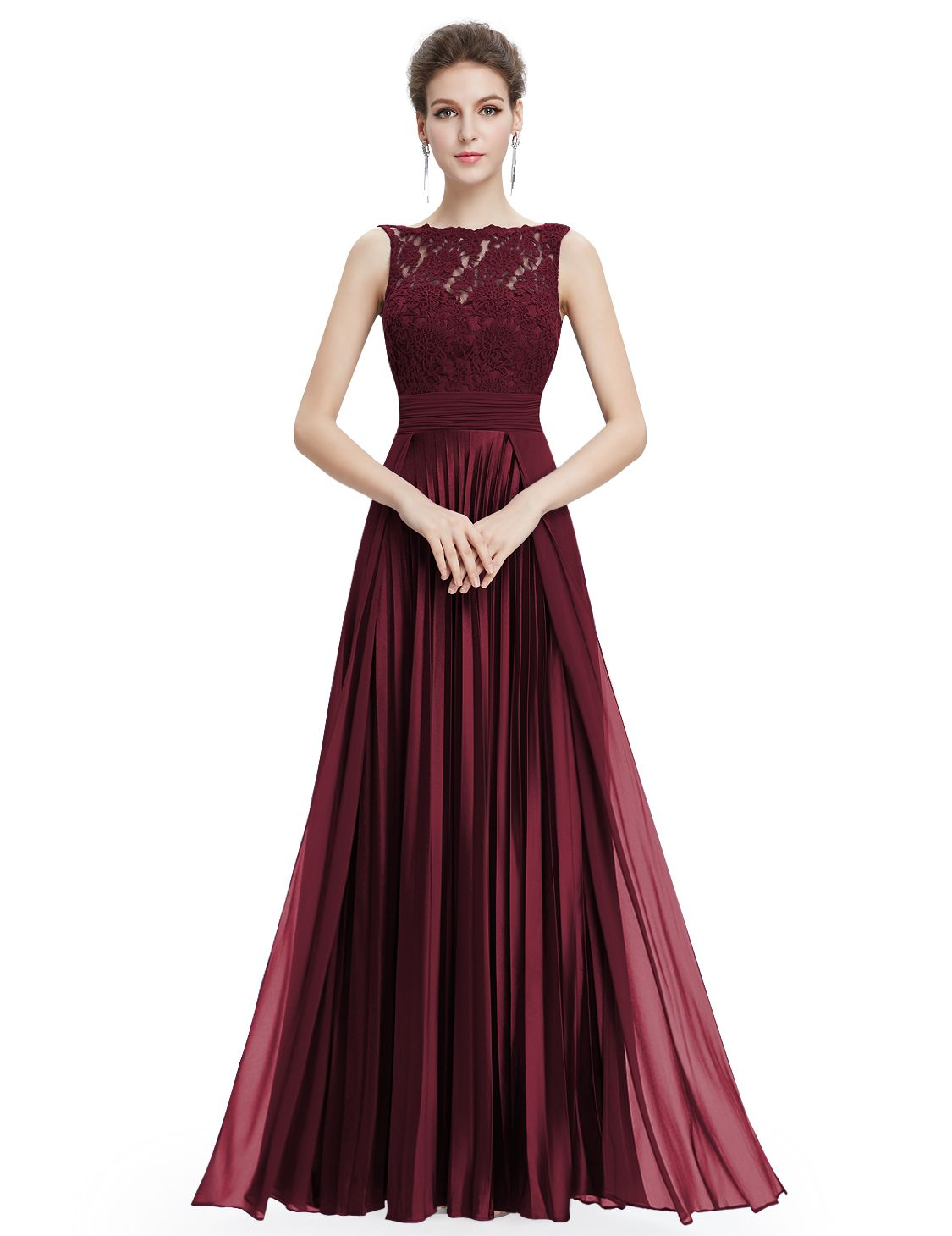 Bordeaux rode galajurk ruby shop je voordeling online bij i love floor length lace chiffon and satin pleated bridesmaid dress in navy evening gown party dress ombrellifo Gallery