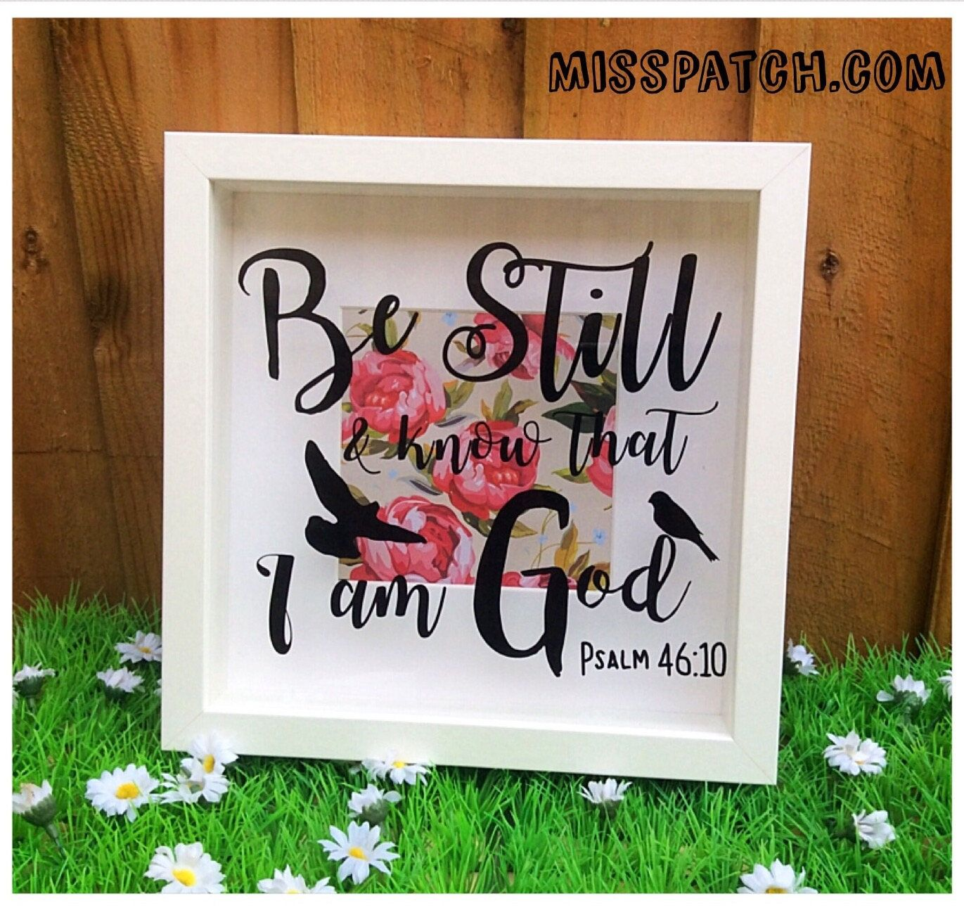 An Inspirational And Motivational Vinyl Box Frame With A Scripture That Reads Be Still And Know That I Am God Box Frames Christmas Shadow Boxes Diy Shadow Box