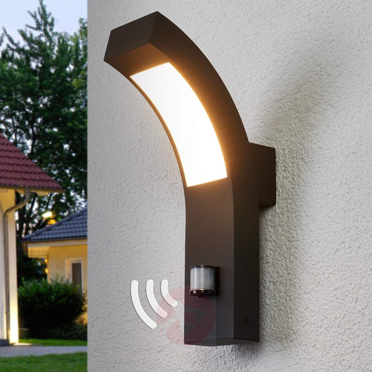 Lennik LED Exterior Wall Lamp With Motion Detector 9619007 332