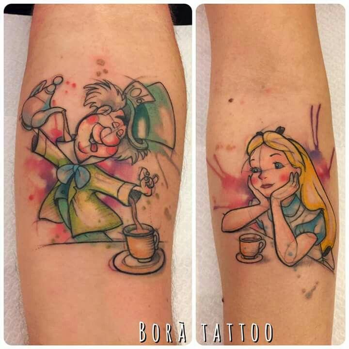 Alice In Wonderland Tattoo Sleeve Tattoos Disney Tattoos